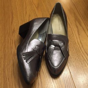 💎Marc Fisher Silver Loafers